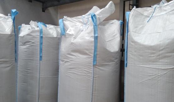 big bag filling animal flour