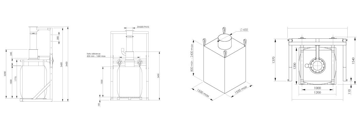 Big bag filling system FlowMatic 01- Bulk powder handling