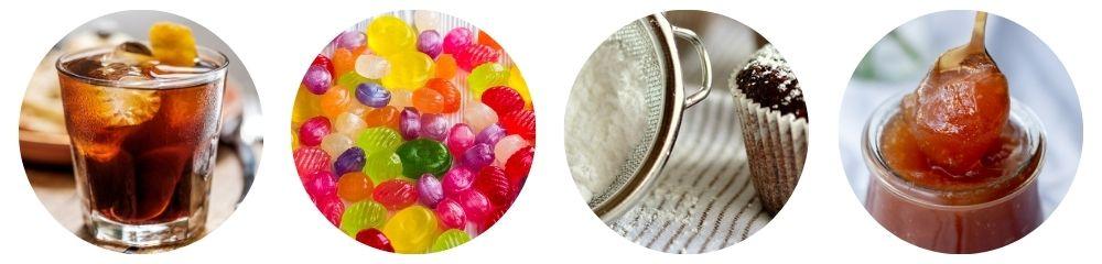 Applications industrielles avec sucre glace