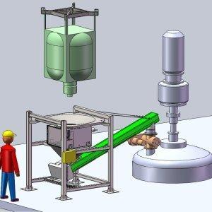 drop trough rotary airlock valve implantation