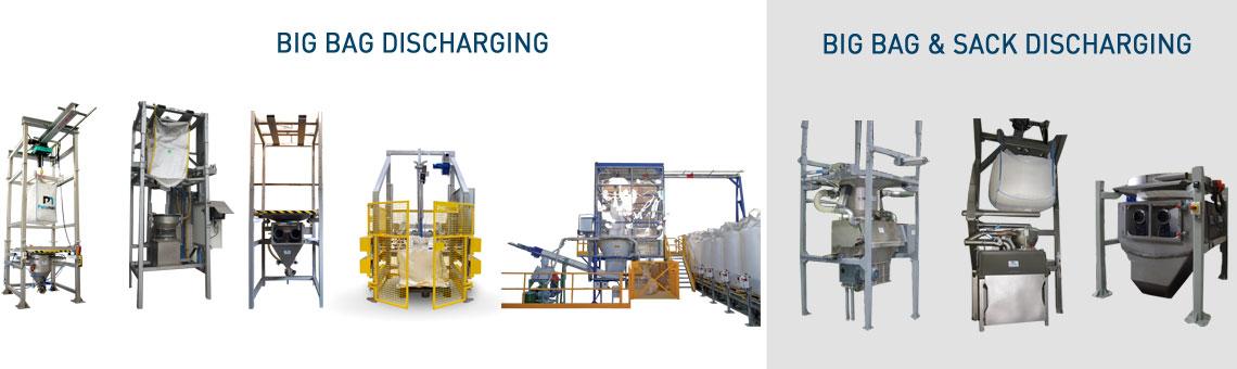 Big bag discharging range