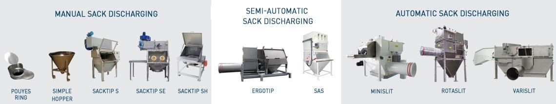 Range sack discharging