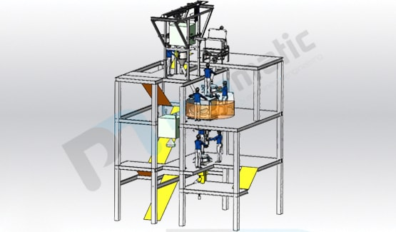 Mixing tower for milk powder