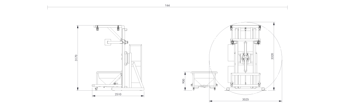 Octabin discharging system layout OctoFlow 03 - Bulk powder handling