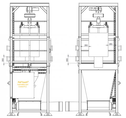 Big bag discharger high rate - Bulk and powder handling
