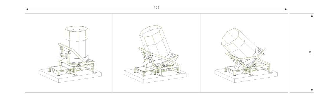 Octabin discharging system layout OctoFlow 01 - Bulk powder handling