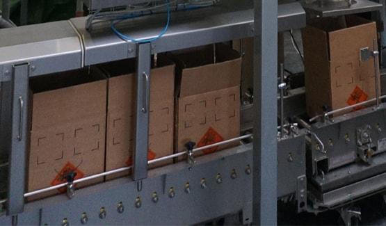 Cardboard box filling
