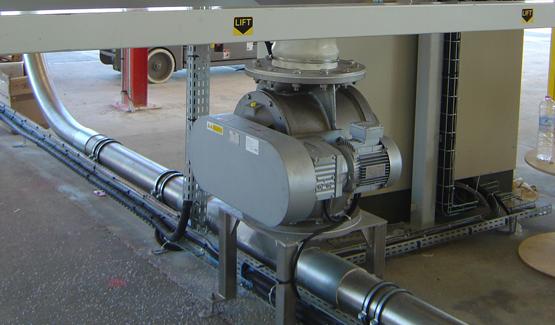 rotary airlock valve truck loading