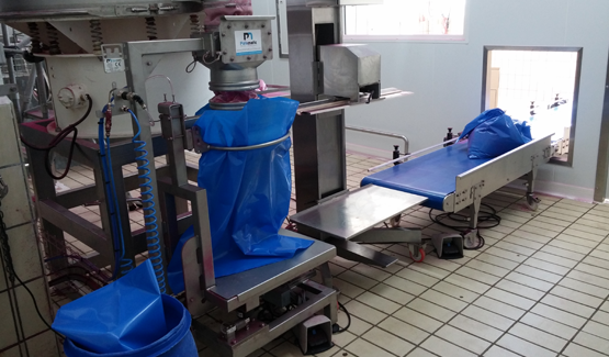 sack filling skid animal nutrition palamatic process