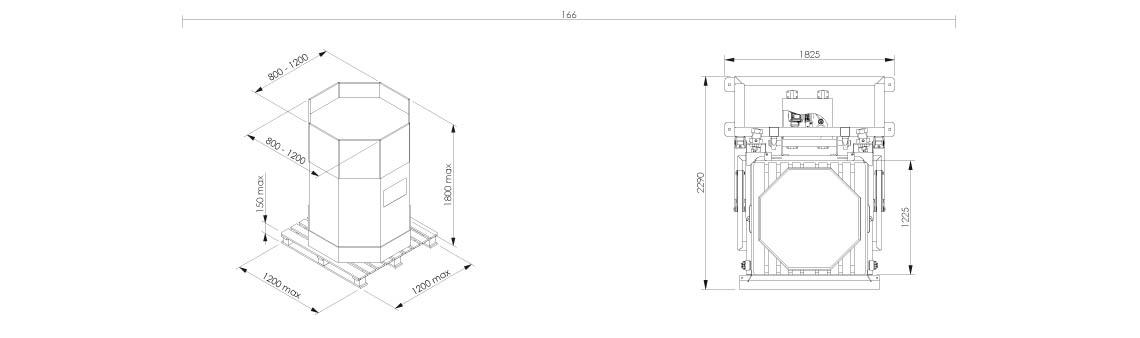 octabOctabin discharging system layout OctoFlow 02 - Bulk powder handling