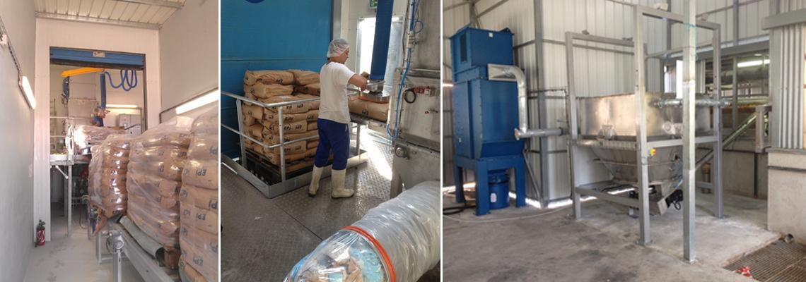 storage in silo pneumatic conveying of sugar and milk powder for dairy drink preparation 2