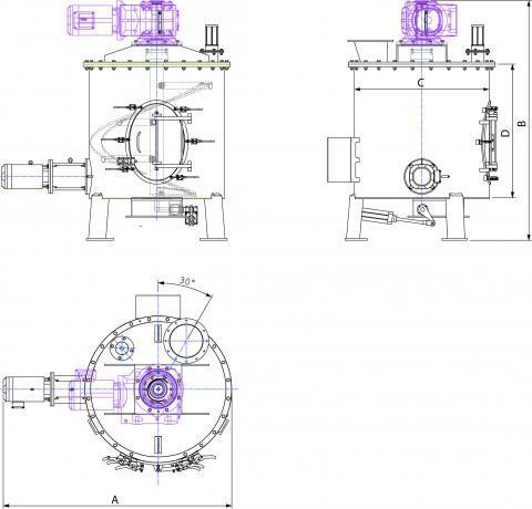 Industrial discontinouous mixer - Bulk materials and powder handling