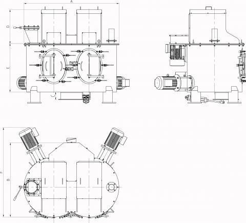 Vertical mixer Palamatic Process