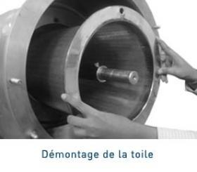 centrifugal sieve screen dismantling