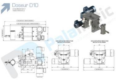 Screw feeder D10 drawing