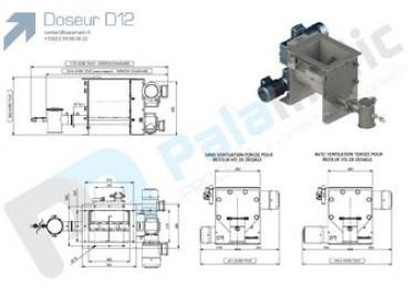Screw feeder D12 drawing