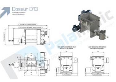 Screw feeder D13 drawing