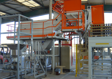 automatic sack discharging vaccum lifter