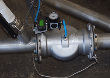 pinch valve pneumatic conveying