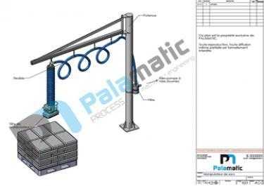 Sack tube lifter