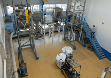 palamatic process test plant industrial scale