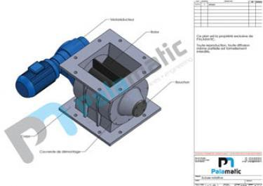 Drop through rotary valve E200 for flakes and pellets