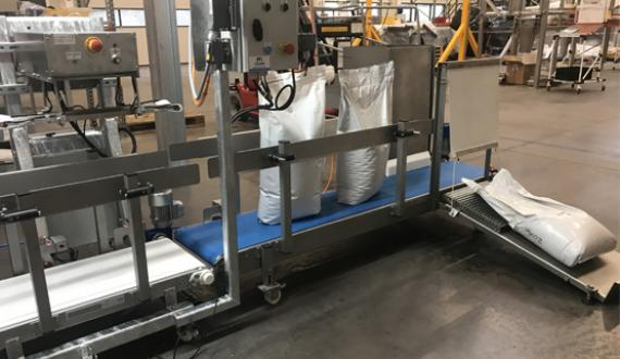 Food industry bag packing production line