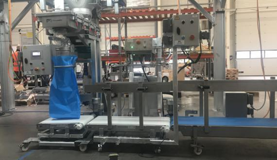 Food industry sack filling packing production line