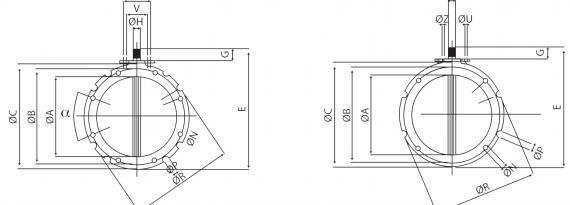 Butterfly valve - Bulk material and powder handling