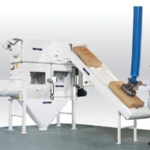 Automatic bag discharging Rotaslit Palamatic Process