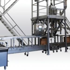 Cardboard box filling bulk powders handling Palamatic Process