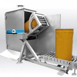 Drum discharging tipping over Drumflow03 bulk handling solutions