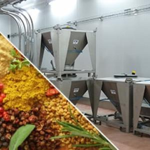 Production line for spices
