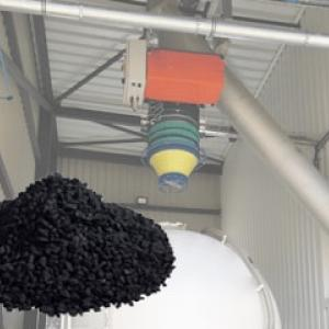 Loading of activated carbon