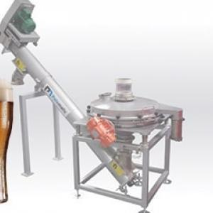 Screening and mechanical conveying cereals bier