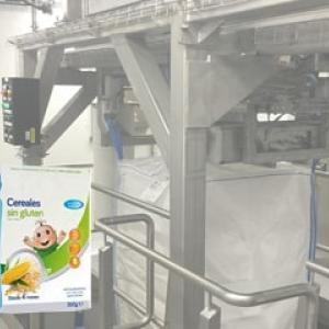 Hygienic big bag filling station for infant milk powder