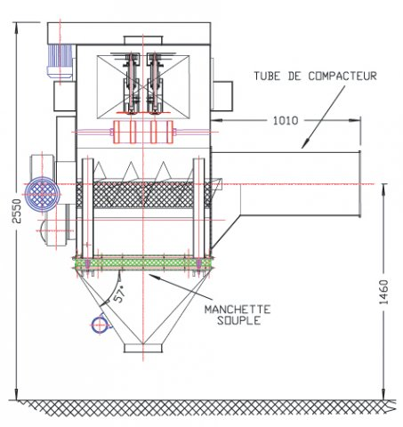 varislit layout size automatic sack discharging