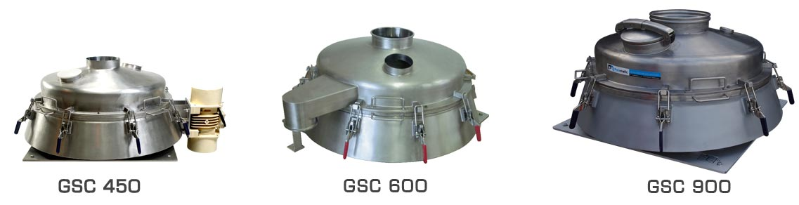 vibrating sieve range palamatic process