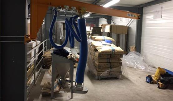 sack discharging sugar palamatic process