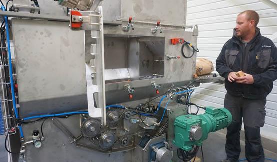 automatic sack discharging bulk handling equipment suger palamatic process