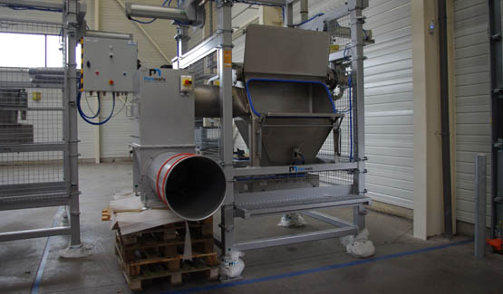 automatic sack discharging bulk handling equipment feed industry